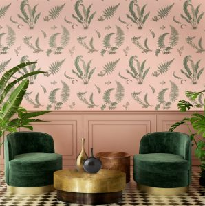 Ferns Blush wallpaper signature II
